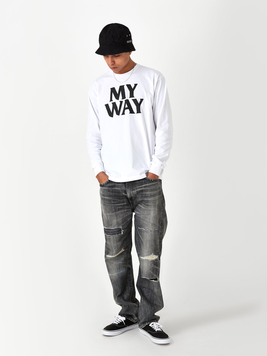 Neighborhood Neighborhood Longsleeve My Way / C-TEE - White - White