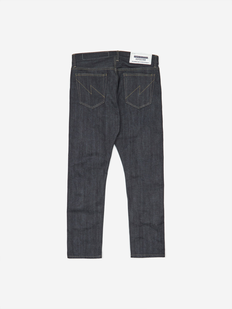 Neighborhood Neighborhood Rigid DP Narrow / 14oz Trouser - Indigo - Blue