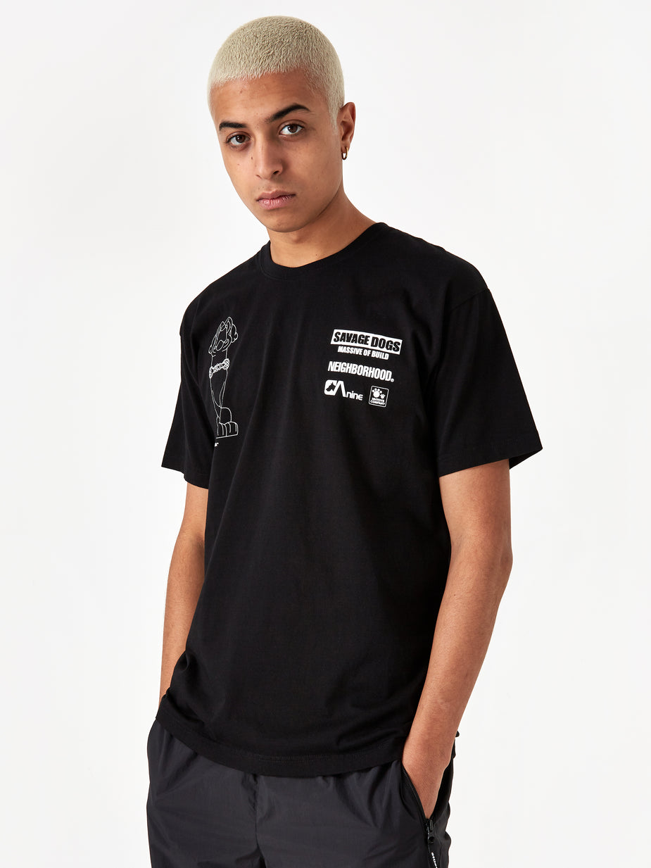 Neighborhood Neighborhood Shortsleeve Ana / C-TEE - Black x Blue - Blue