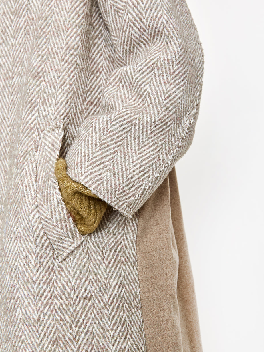 Neul Neul Raw Cut Daddy Coat - Tea - Neutrals