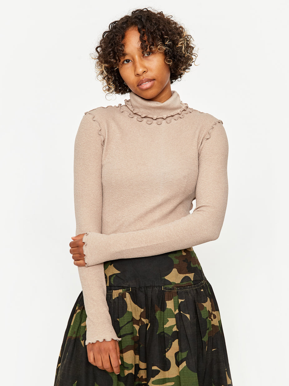 Neul Neul Waves Edges Dolce Vita Longsleeve Top - Iced Coffee - Brown