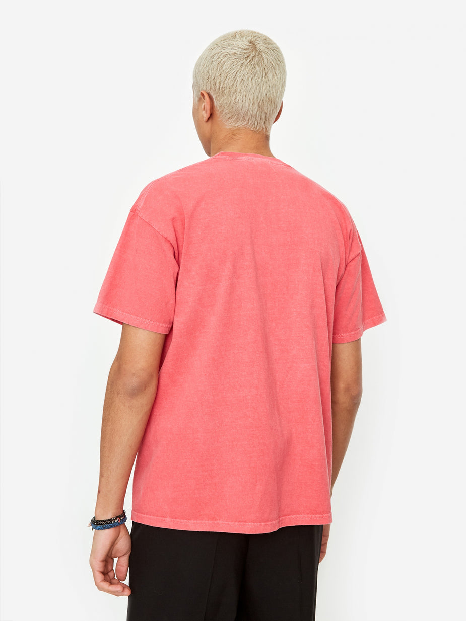 Nicholas Daley Nicholas Daley Astro Black Garment Dyed T-Shirt - Red - Red