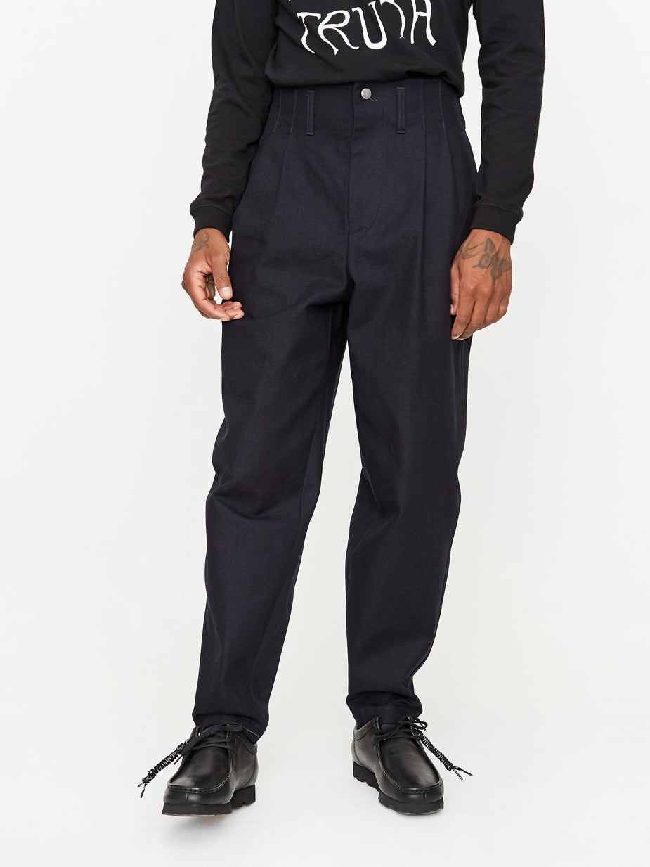 Nicholas Daley Nicholas Daley Denim Two Pleat Trouser - Indigo - Blue