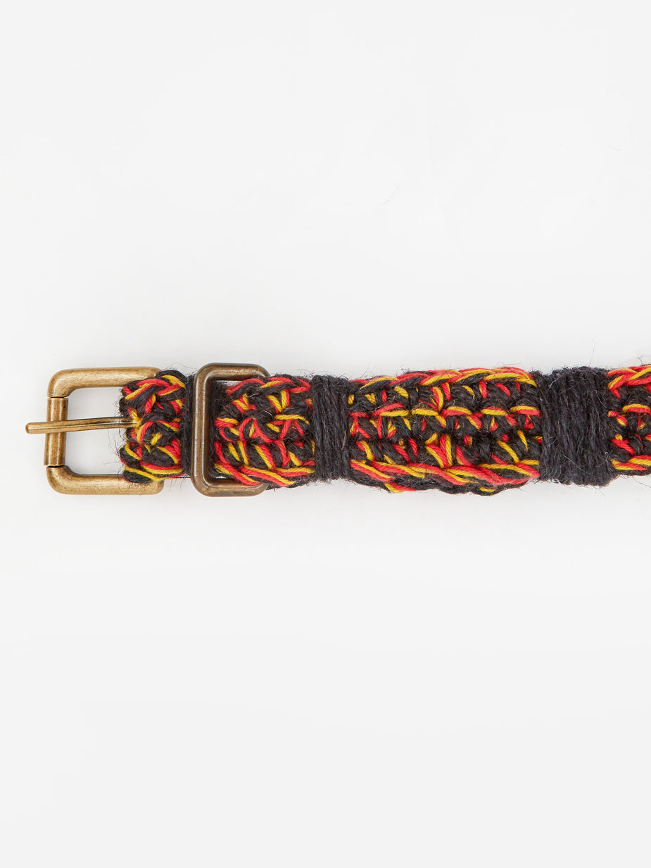 Nicholas Daley Nicholas Daley Hand Crochette Belt - Red/Yellow/Black - Red