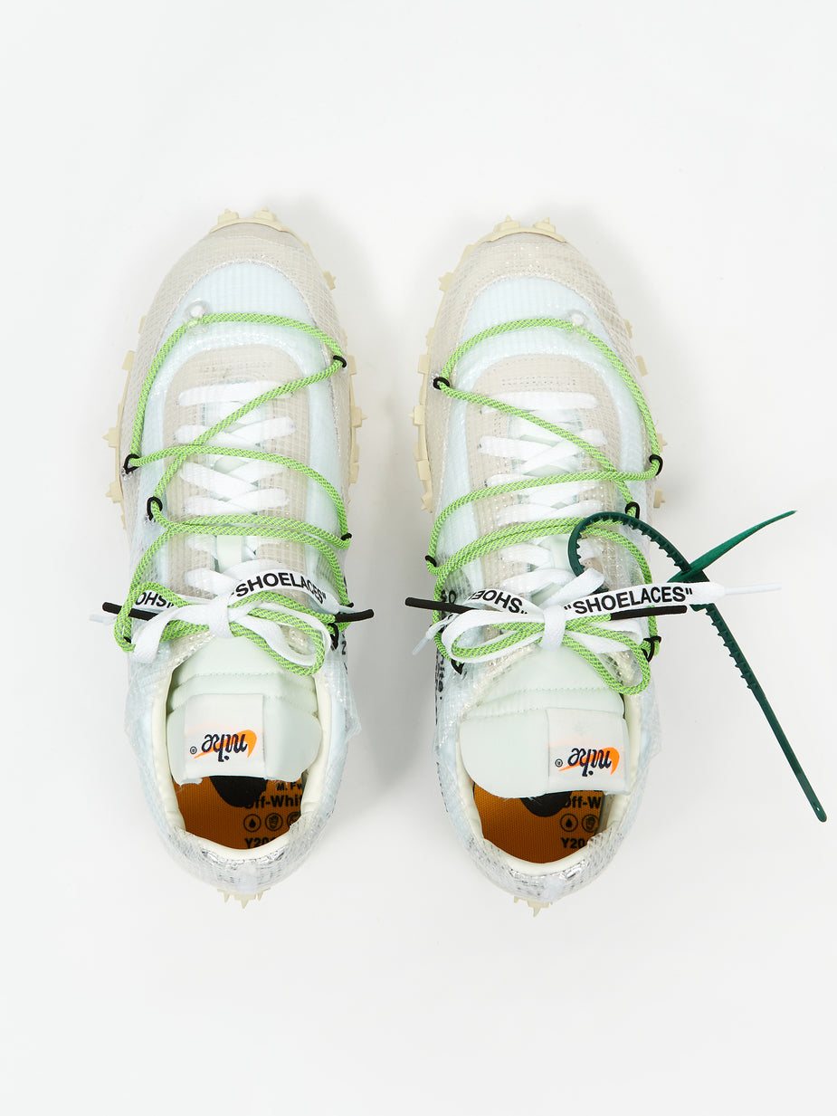 Nike Nike Waffle Racer Off White - White/Black/Electric Green - Green