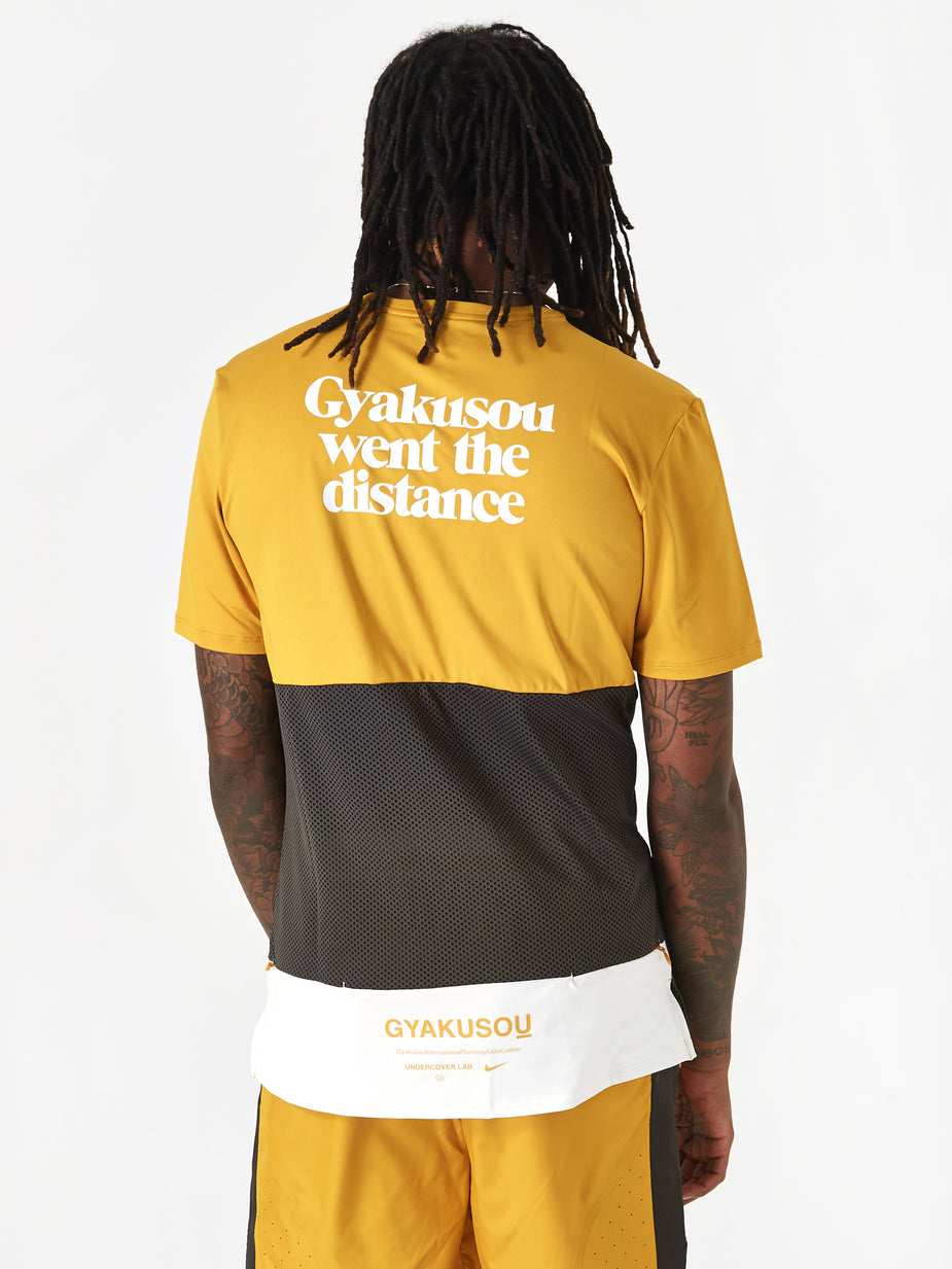Nike Nike x Gyakusou NRG Shortsleeve Top - Mineral Yellow/Deep Pewter/Sail - Yellow