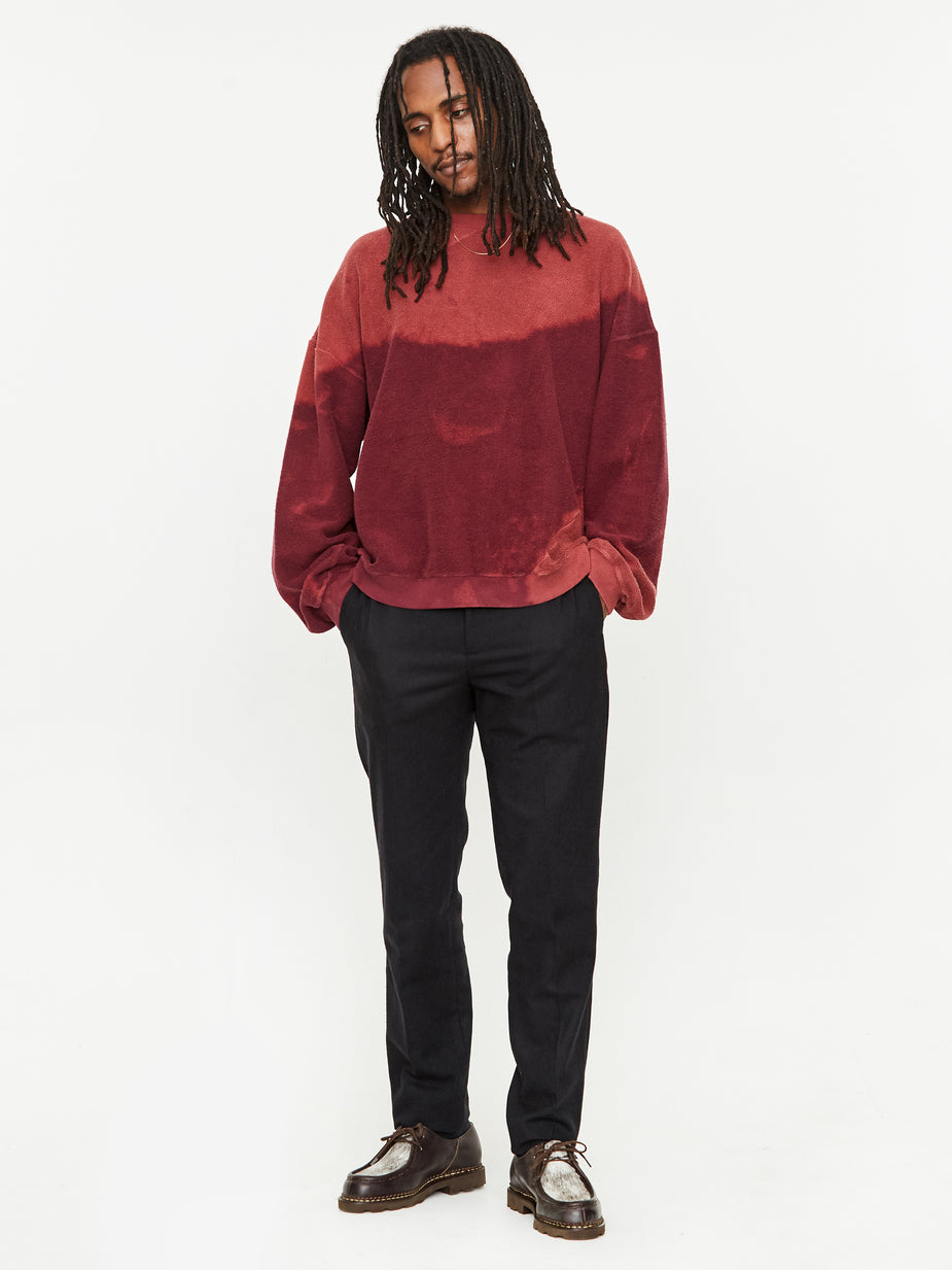 NOMA t.d. NOMA t.d. Bleach Twist Sweatshirt - Burgundy - Red