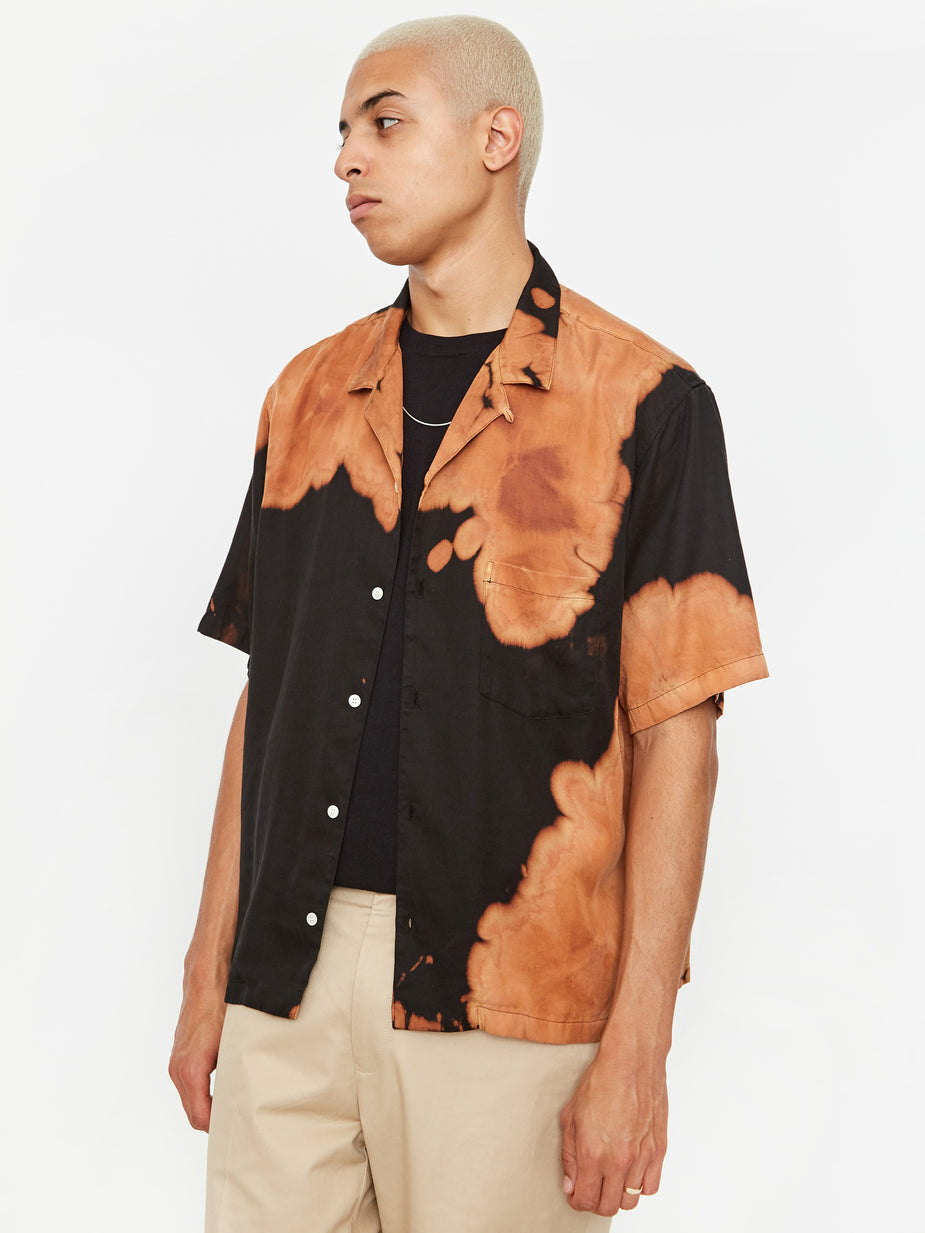 NOMA t.d. NOMA t.d. Bleach Shortsleeve Shirt - Brown - Brown