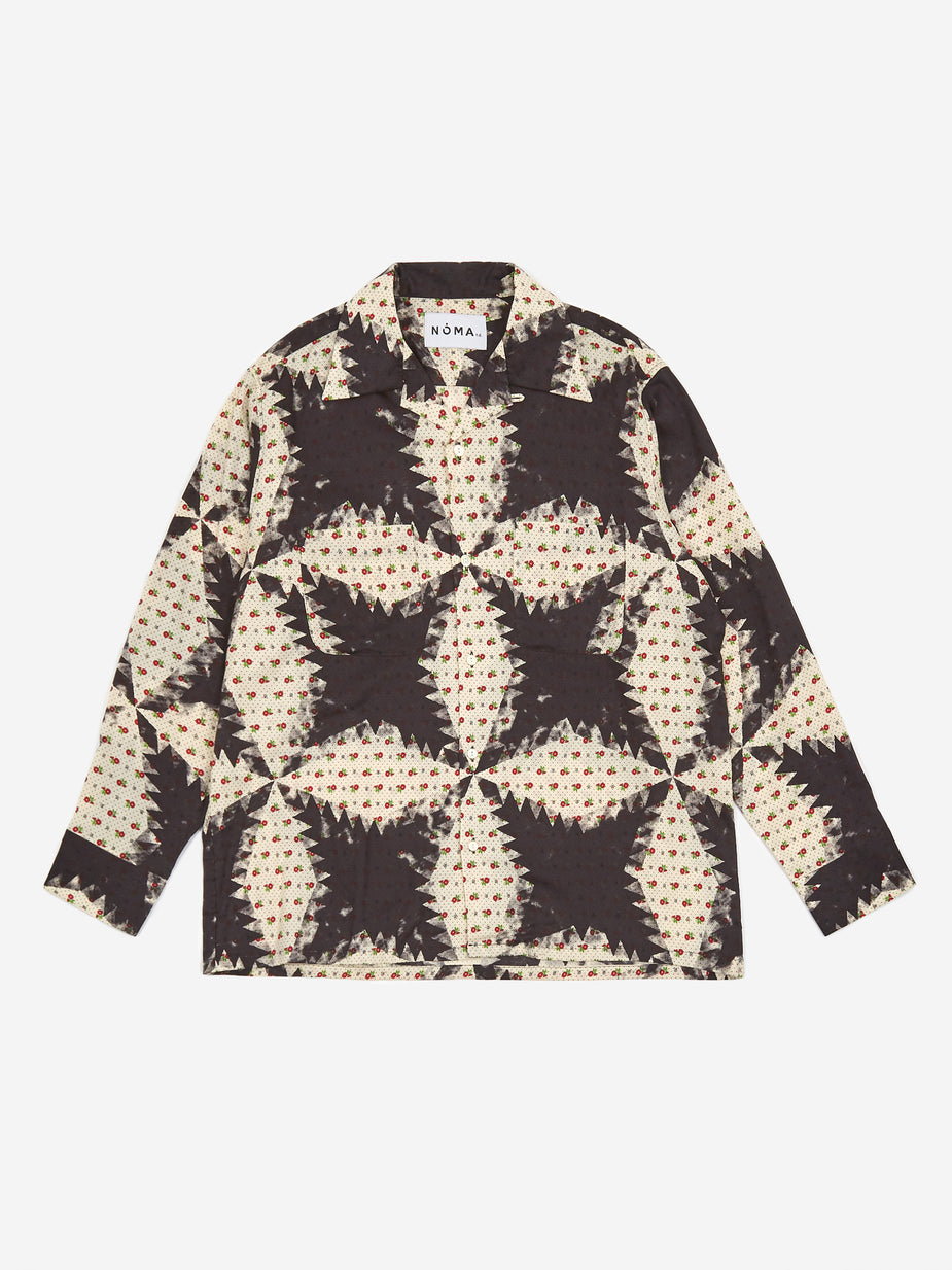 NOMA t.d. NOMA t.d. Flower And Quilt Longsleeve Shirt - Black - Black