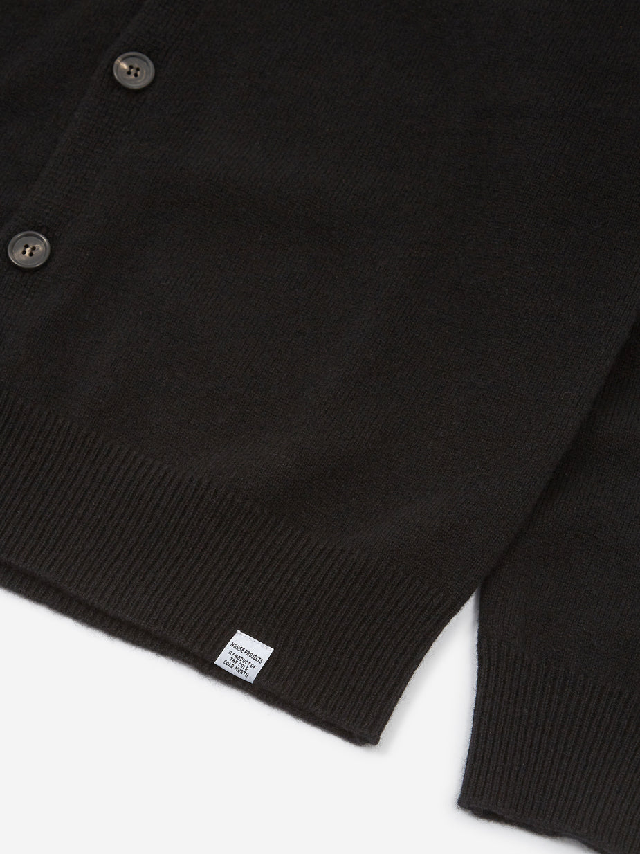 Norse Projects Norse Projects Adam Lambswool Cardigan - Black - Black