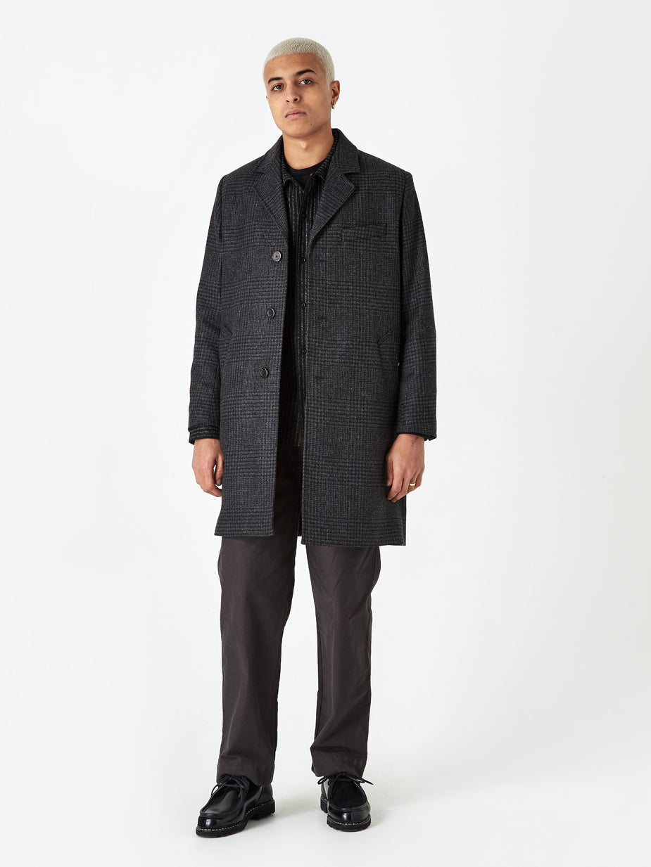 Norse Projects Norse Projects Arland Overdyed Wool Coat - Slate Grey - Grey