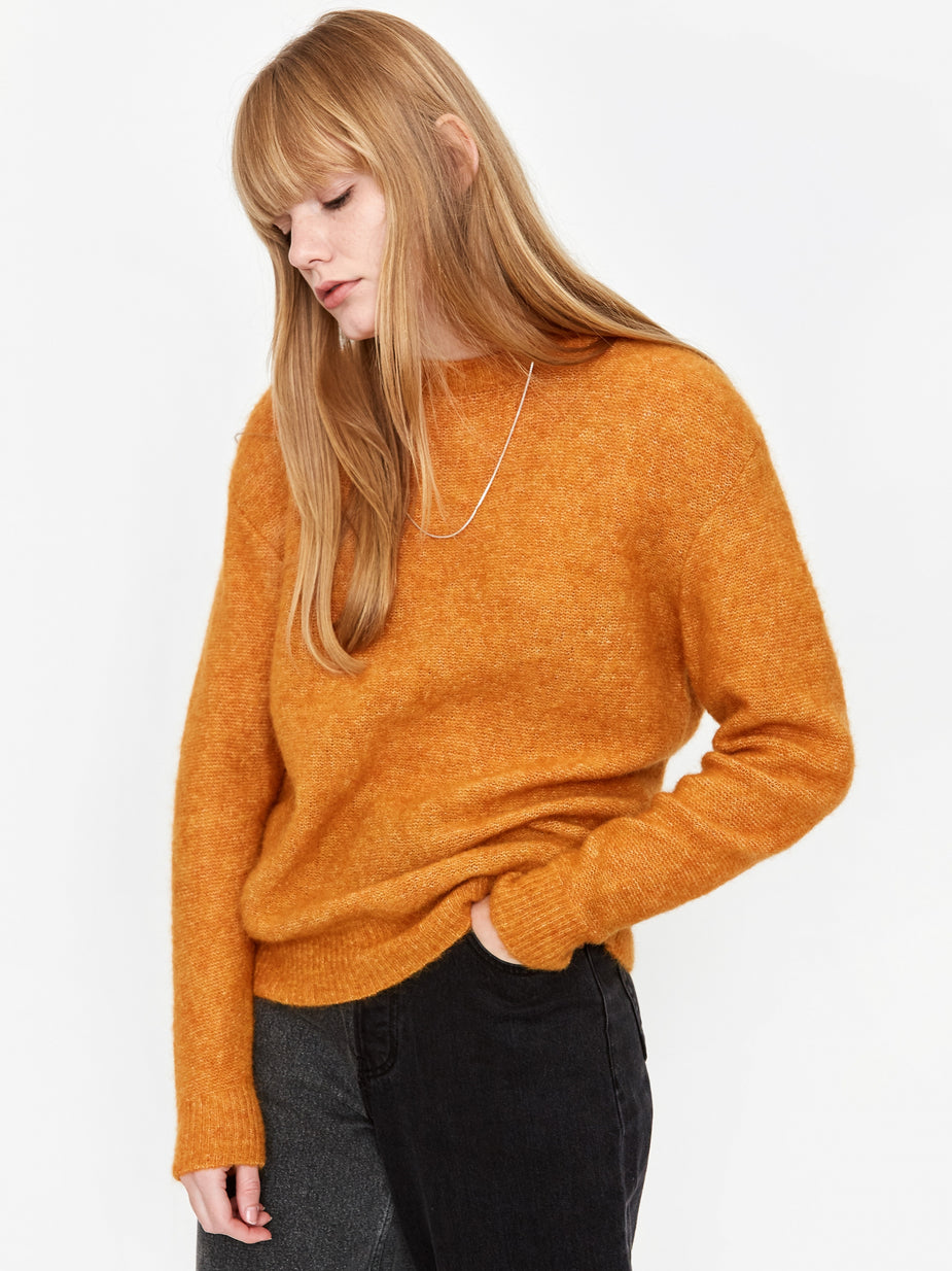 Norse Projects Norse Projects Aslaug Brushed Jumper - Cadmium Orange - Orange