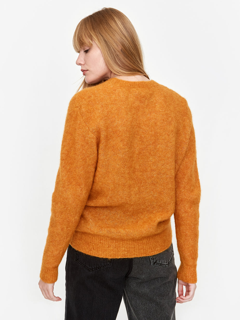 Norse Projects Norse Projects Aslaug Brushed Jumper - Cadmium Orange
