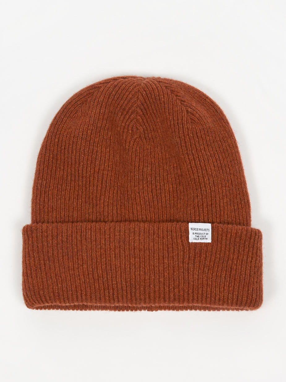 Norse Projects Norse Projects Beanie Hat - Carmine Red - Red