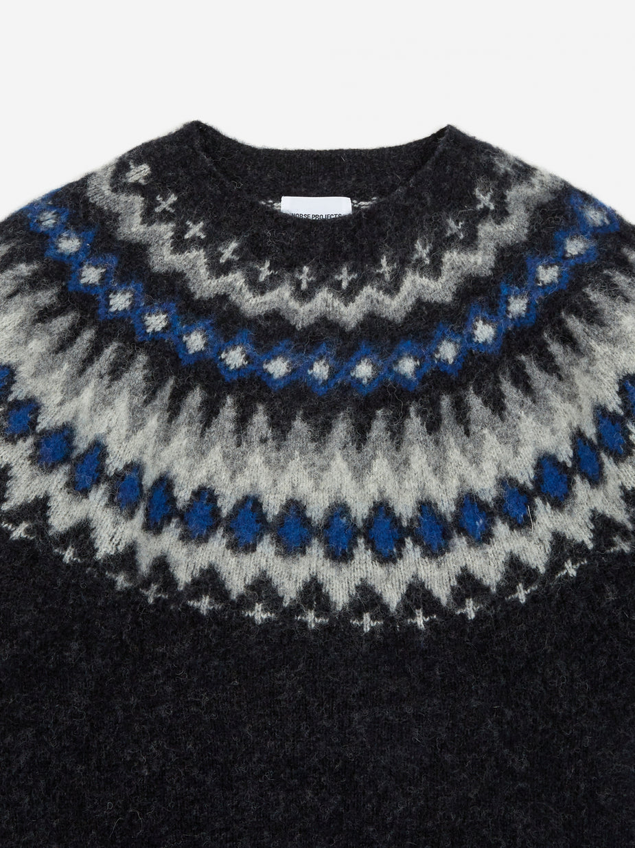 Norse Projects Norse Projects Birnir Fairisle Jumper - Grey Melange - Grey