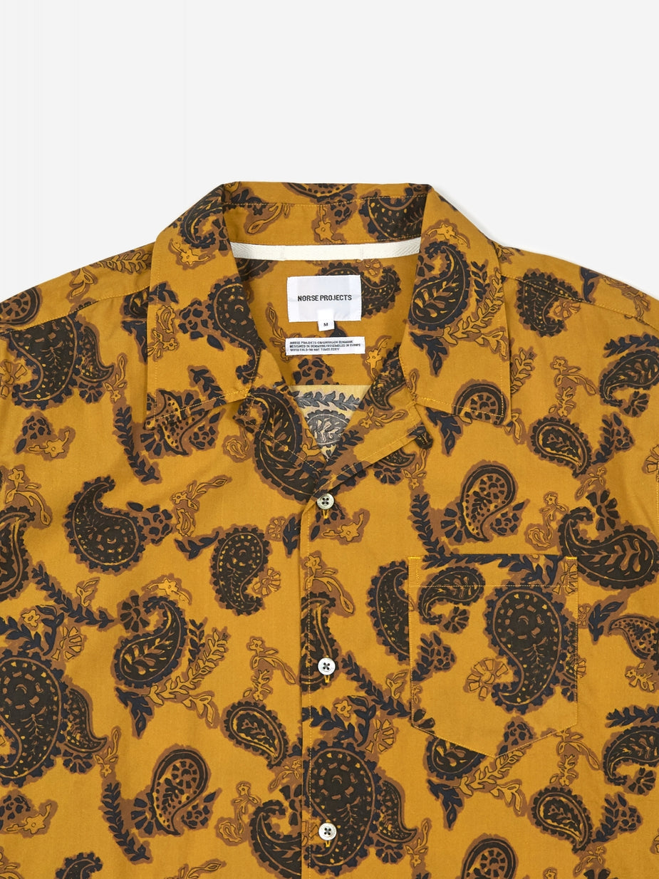 Norse Projects Norse Projects Carsten Paisley Shirt - Montpellier Yellow - Yellow