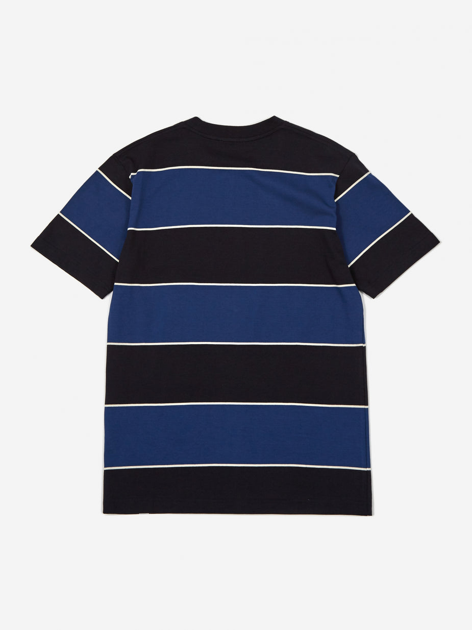 Norse Projects Norse Projects Johannes 3 Stripe Shortsleeve T-Shirt - Twilight Blue - Blue