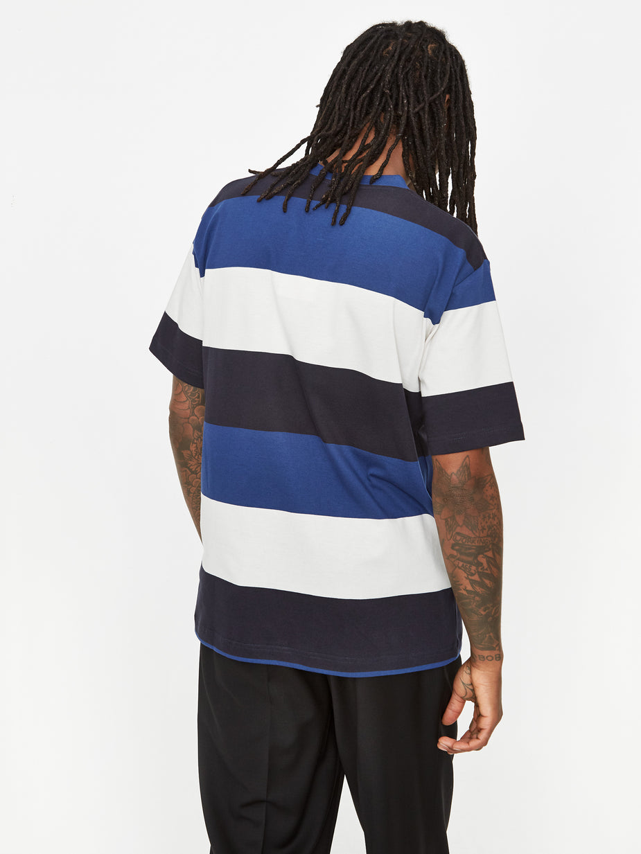 Norse Projects Norse Projects Johannes Border Stripe T-Shirt - Twilight Blue - Blue