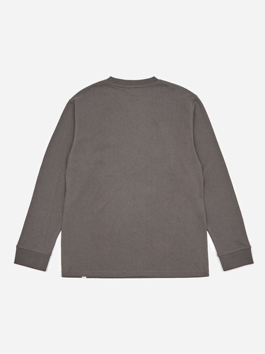 Norse Projects Norse Projects Johannes Pocket Longleeve T-Shirt - Slate Grey - Grey