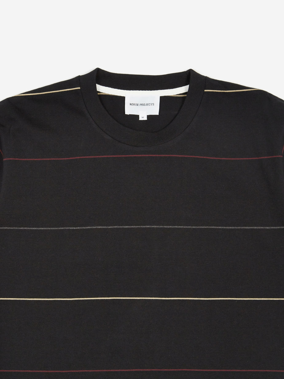 Norse Projects Norse Projects Johannes Thin Stripe T-Shirt - Black - Black