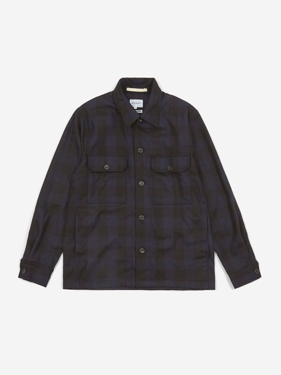 Norse Projects Norse Projects Kyle Wool Longsleeve Shirt - Dark Navy - Navy