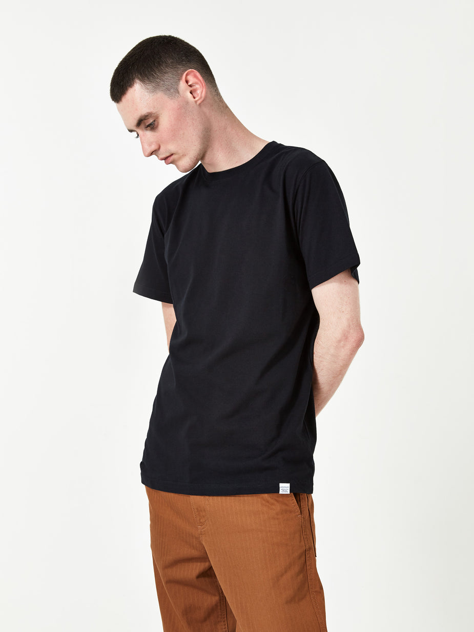 Norse Projects Norse Projects Niels Standard SS T-Shirt - Black - Black