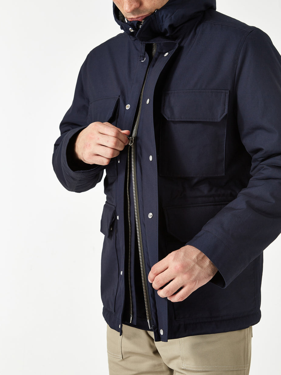 Norse Projects Norse Projects Nunk Cambric Cotton Jacket - Dark Navy - Blue