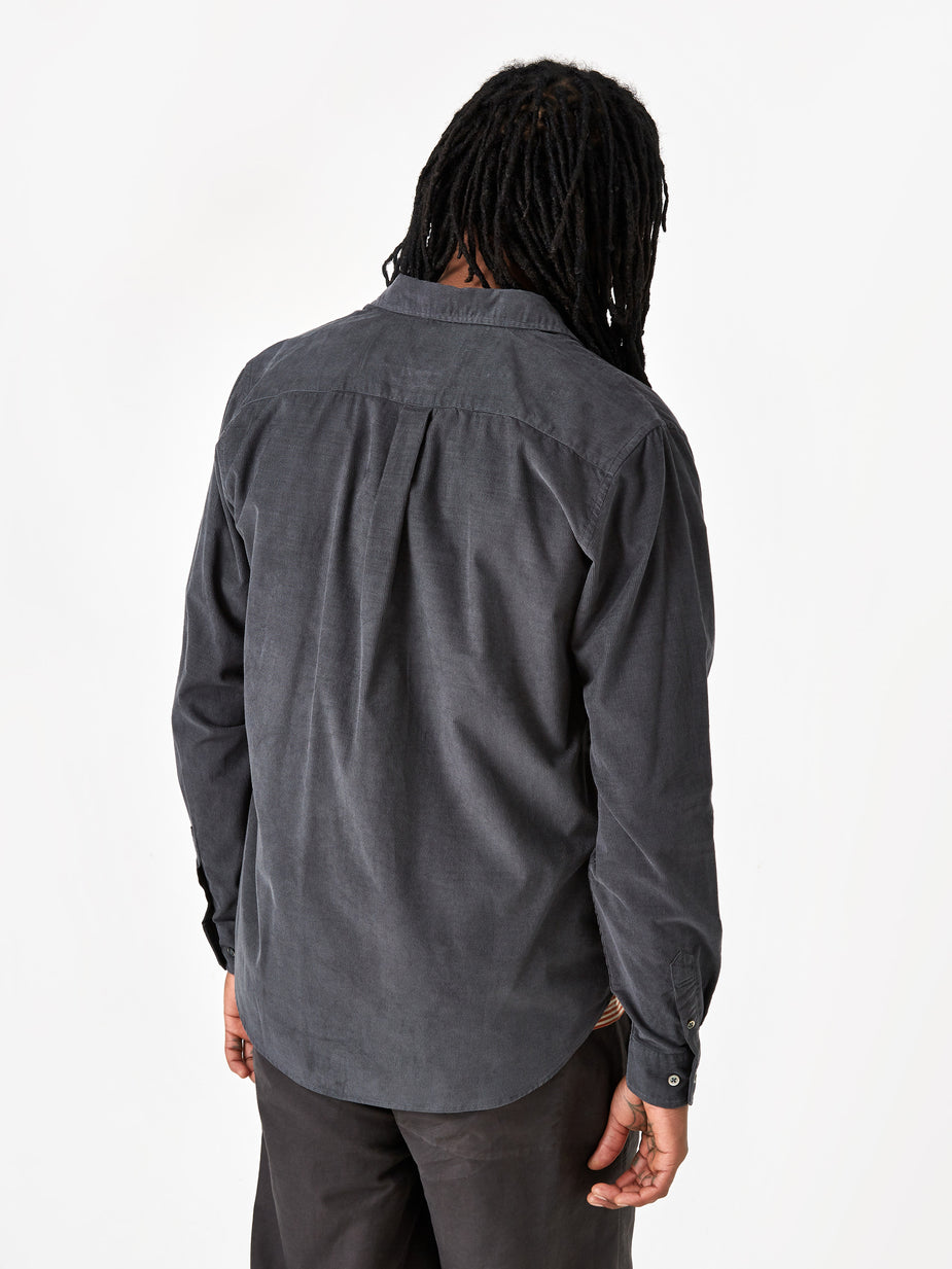 Norse Projects Norse Projects Osvald Corduroy Shirt - Slate Grey - Grey