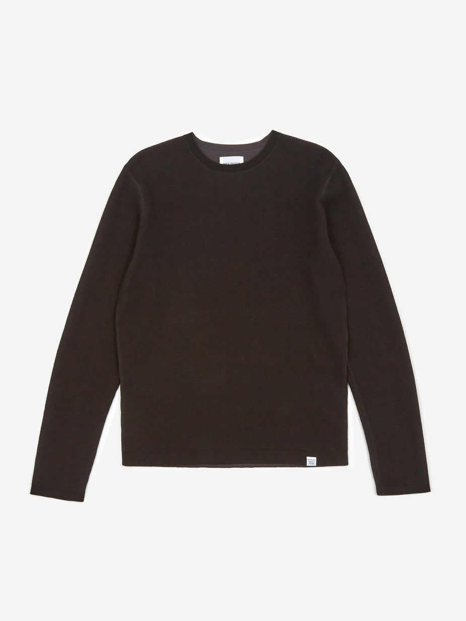 Norse Projects Norse Projects Raffo Air Knit Jumper - Black - Black