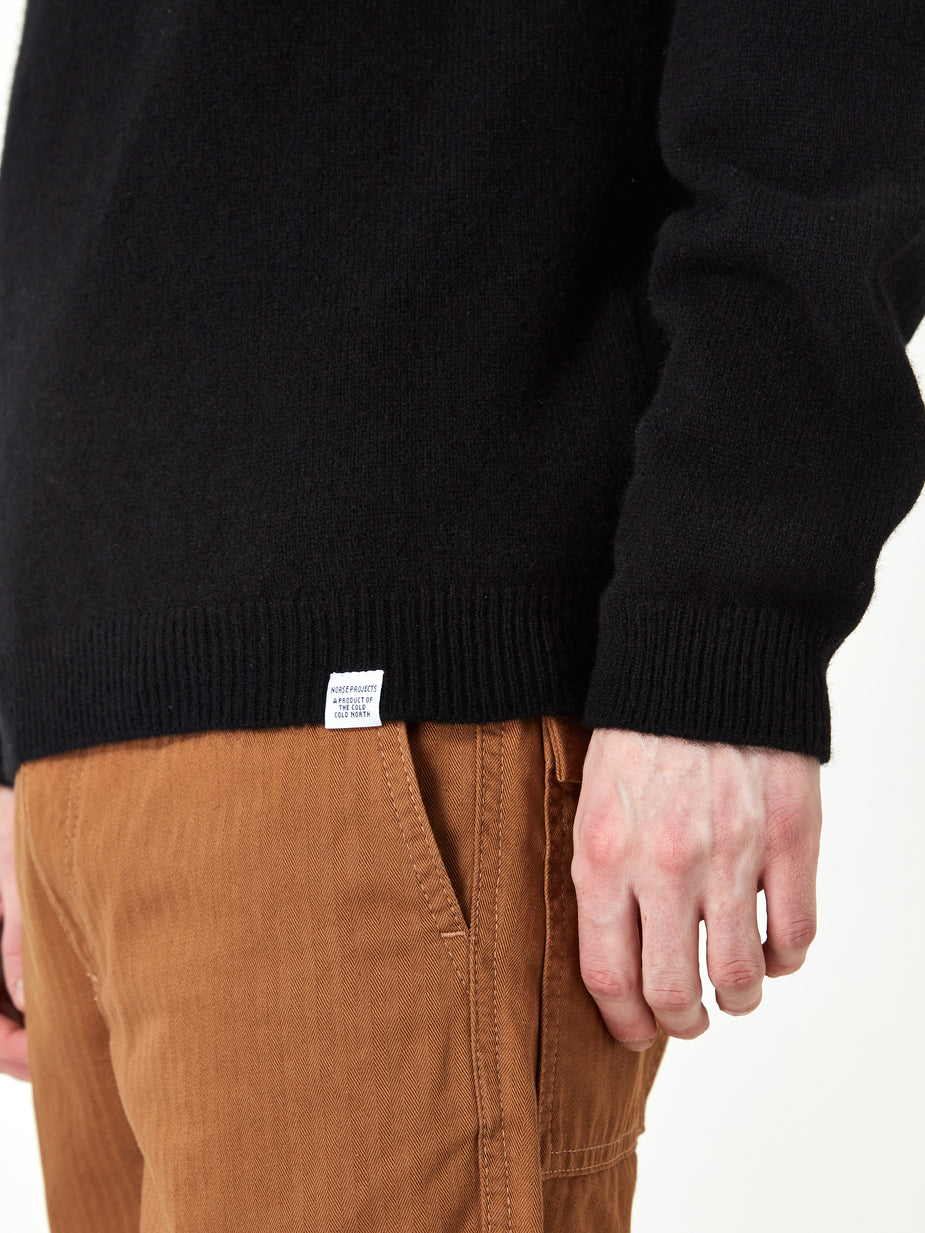 Norse Projects Norse Projects Sigfred Lambswool Jumper - Black - Black