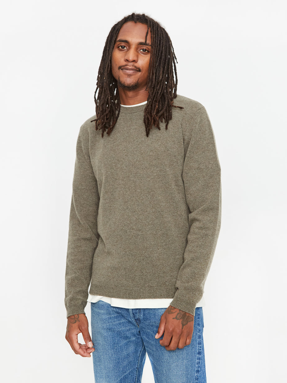 Norse Projects Norse Projects Sigsfred Lambswool Jumper - Ivy Green - Green