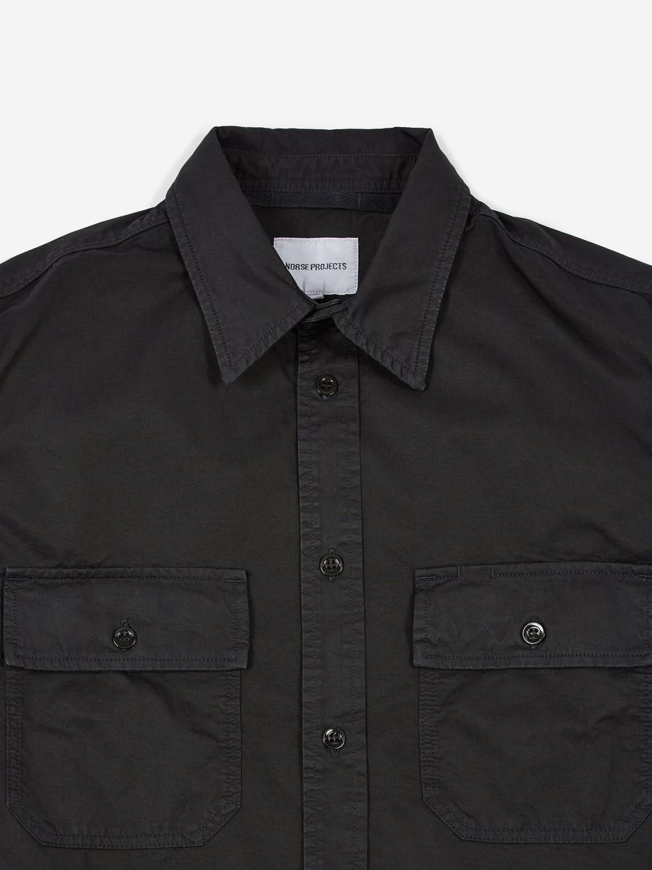 Norse Projects Norse Projects Villads Light Twill Shirt - Dark Navy - Blue