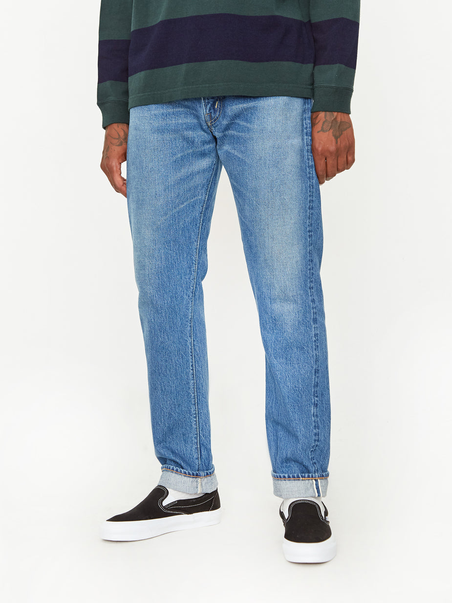 OrSlow OrSlow Ivy Fit 107 Denim Jean - 2 Year Wash - Blue