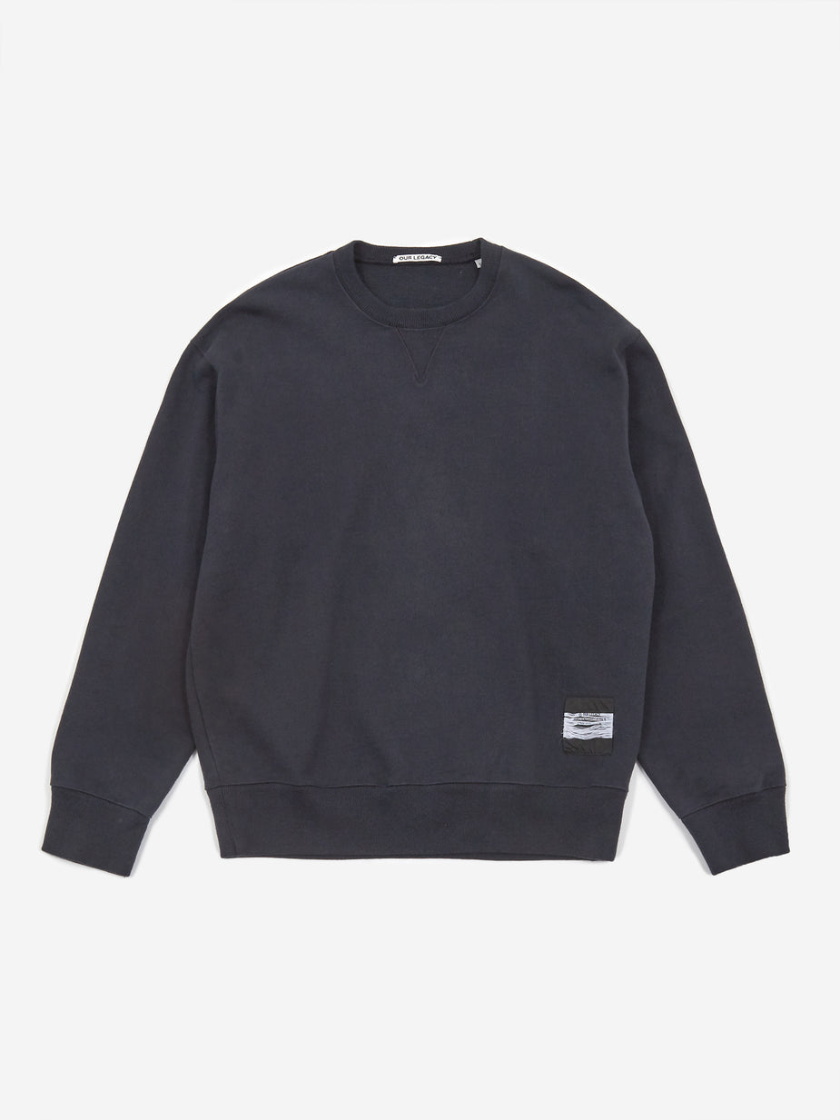 Our Legacy Our Legacy Base Crewneck Sweatshirt - Navy - Navy