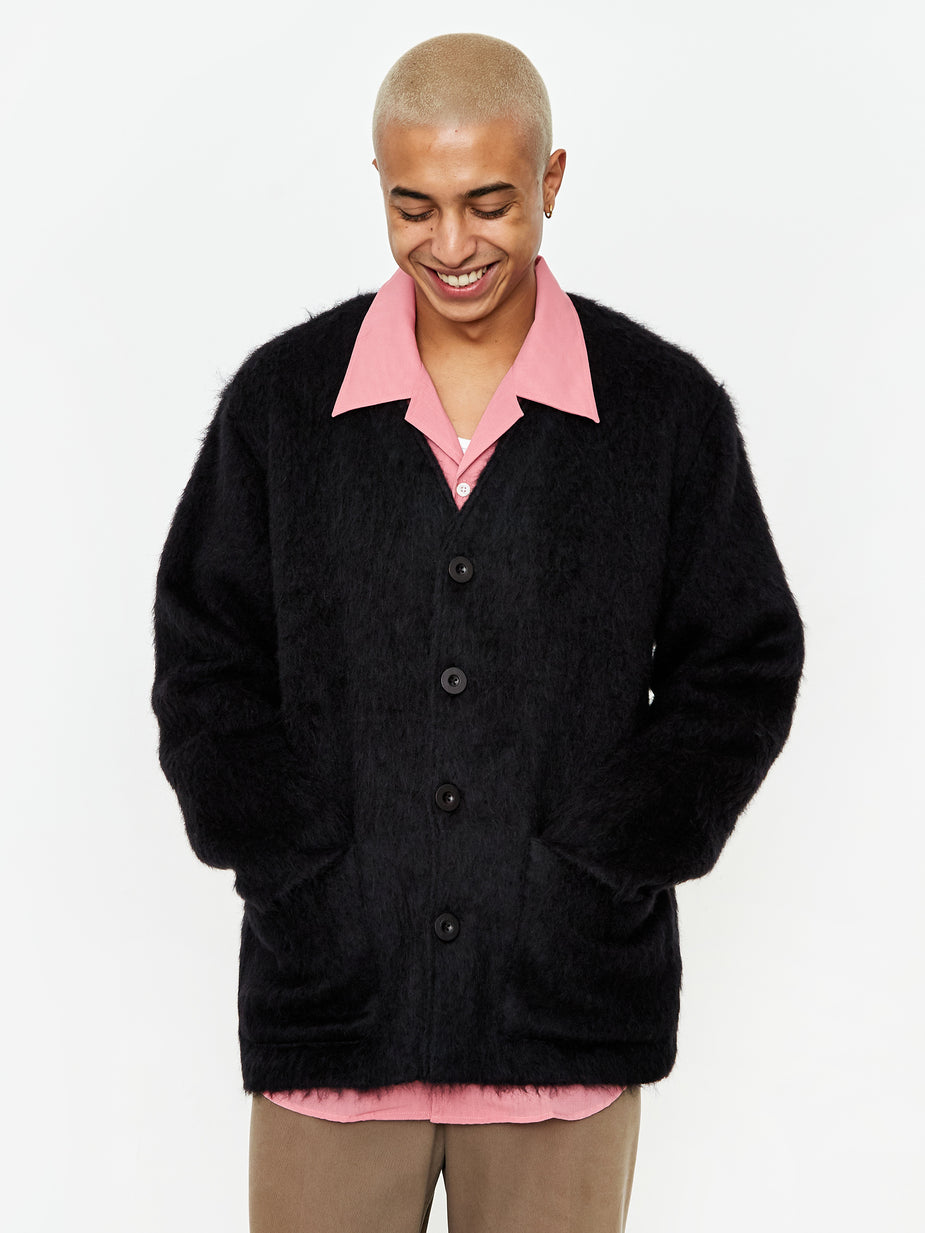 Our Legacy Our Legacy Cardigan - Black Mohair - Black