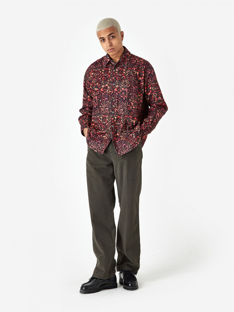 Our Legacy Our Legacy Coco 70's Floral Shirt - Floral Wallpaper Print - Other