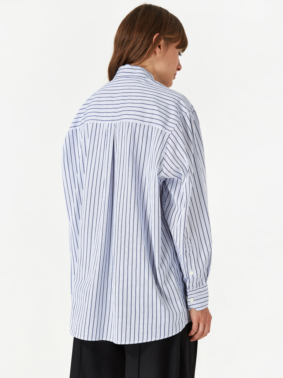 Our Legacy Our Legacy Lend Shirt - Blue Stripe - Blue