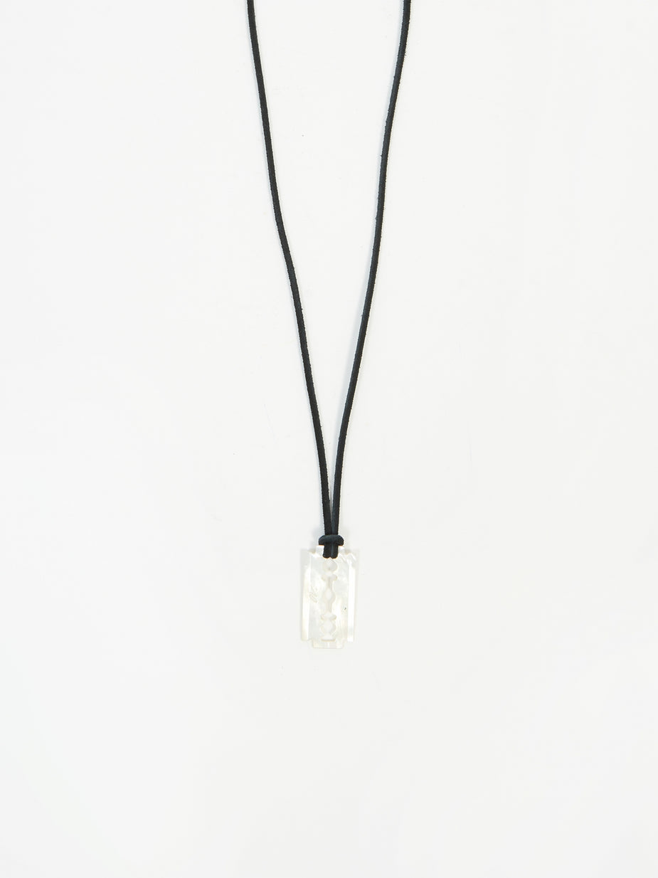 Our Legacy Our Legacy Pearl Razor Necklace - White Pearl - White