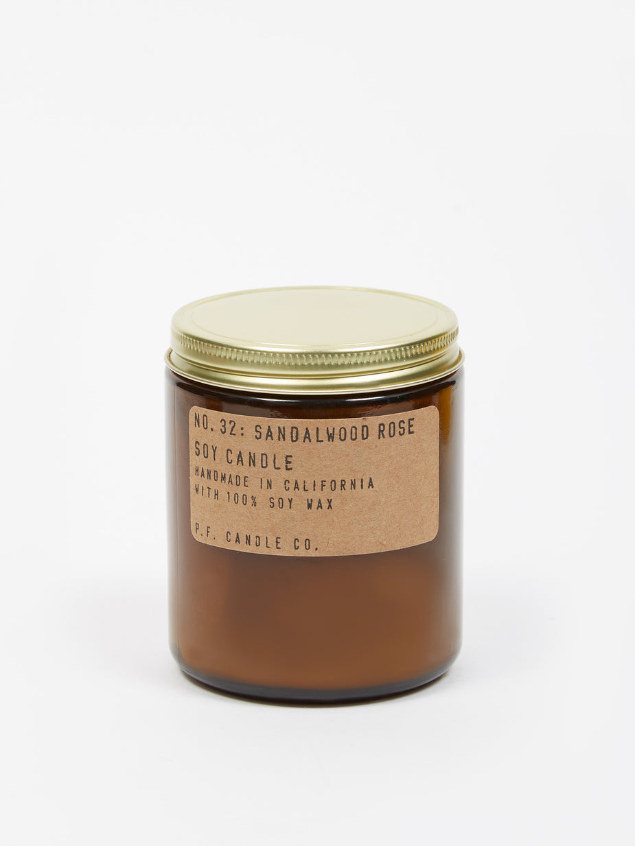 P.F. Candle Co. P.F. Candle Co. No. 32 Sandalwood Rose 7.2oz Soy Candle - 7.2oz - Brown