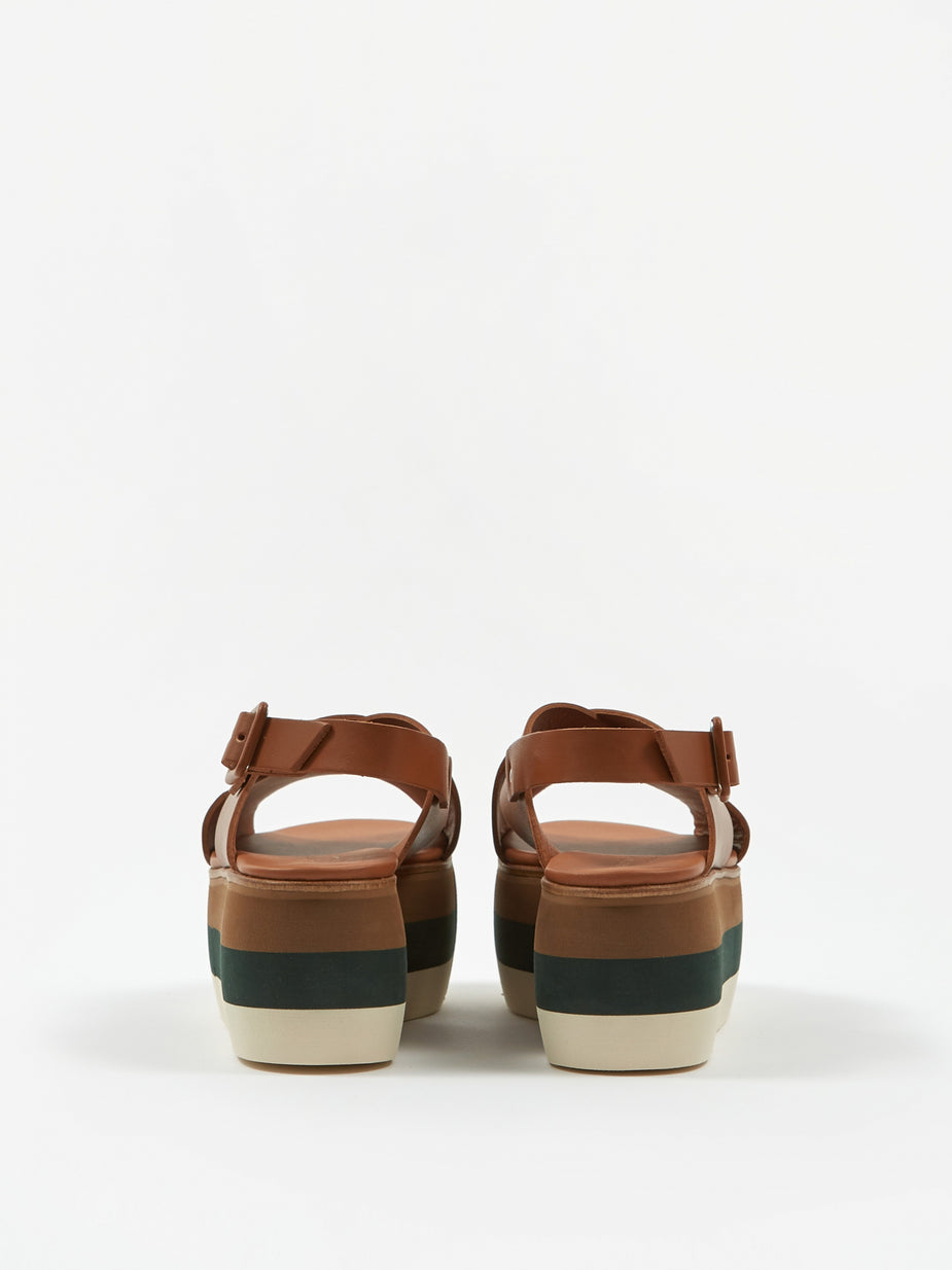 Paloma Barcelo Paloma Barcelo Echo Platform Sandal - Tan - Orange