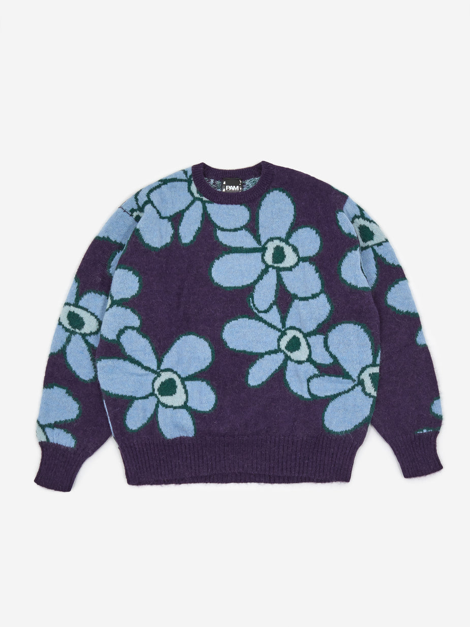 Perks & Mini Perks & Mini Dr. Octagon Knitted Jumper - Blue Flowers - Blue