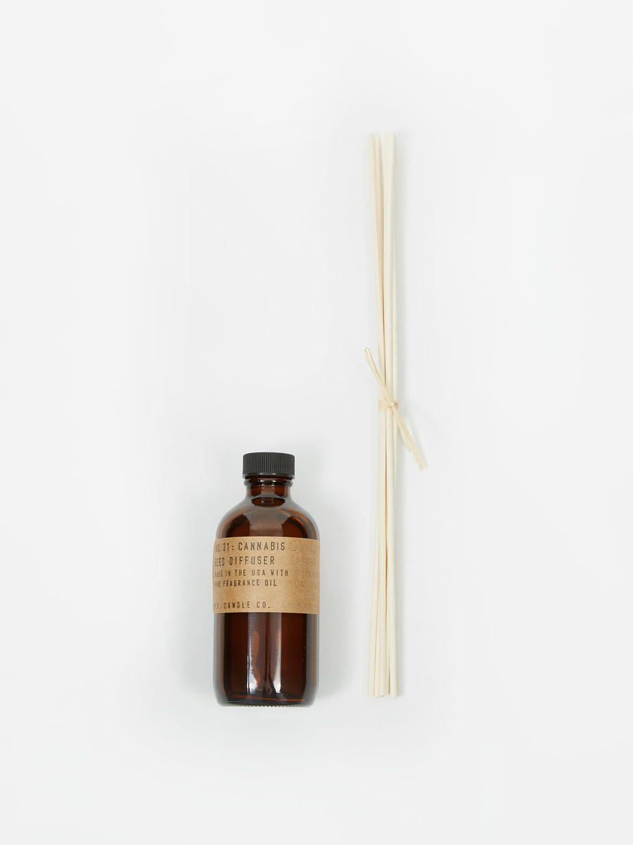 P.F. Candle Co. P.F. Candle Co. No. 31 Cannabis 3oz Reed Diffuser - 3oz - Brown