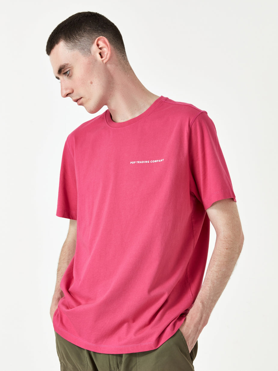 Pop Trading Company Pop Trading Company Logo T-Shirt - Pink - Pink