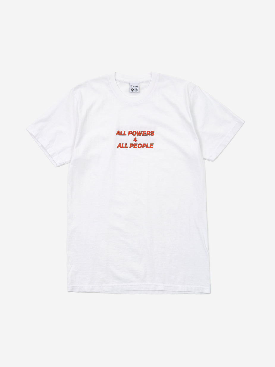 POWERS Powers All Powers For Shortsleeve T-Shirt - White - White