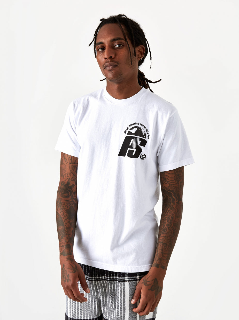 POWERS Powers Stacked Lockup Shortsleeve T-Shirt - White - White