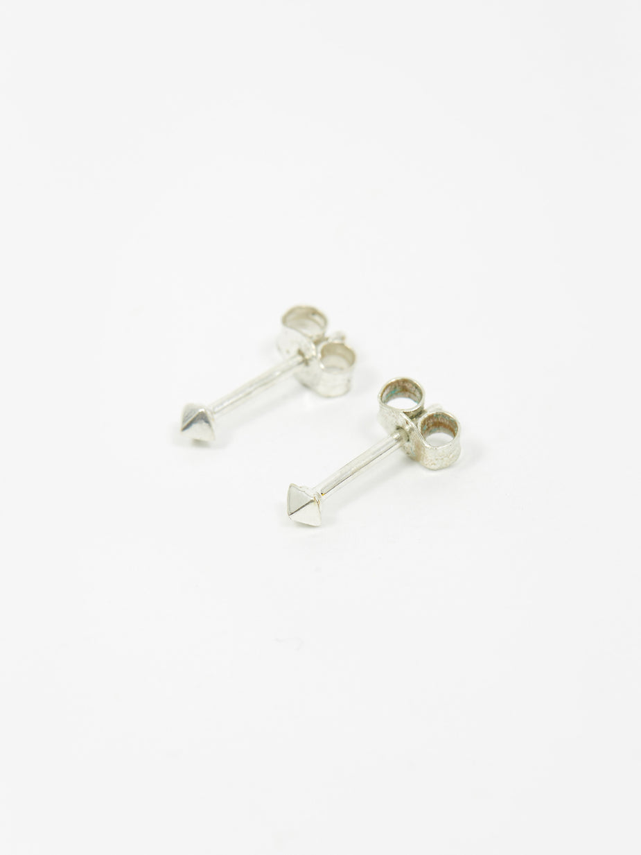 Rachel Entwistle Rachel Entwistle Pyramid Mini Stud Earrings - Silver - Silver