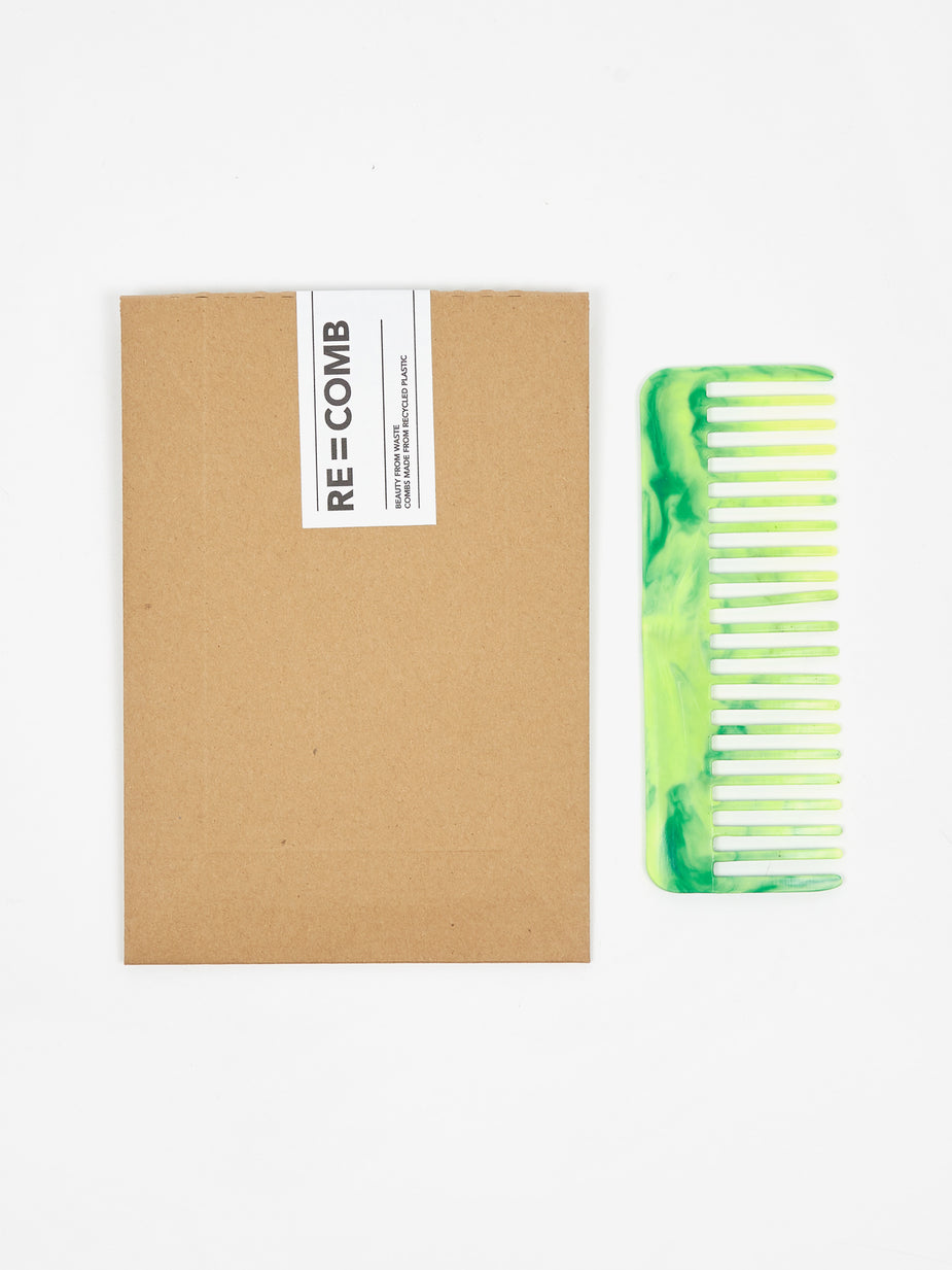 RE=COMB RE=COMB Recycled Plastic Flexible Hair Comb - Neon Green - Green