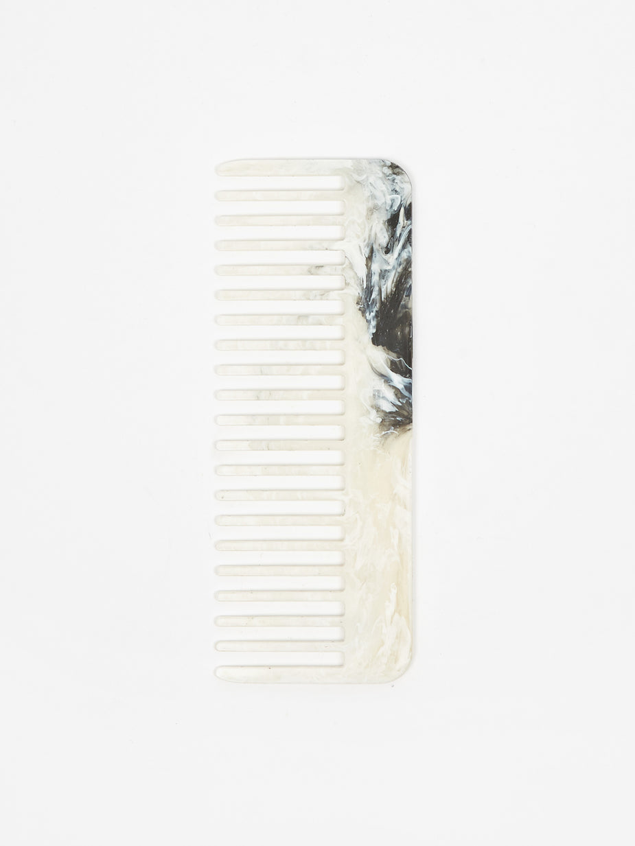 RE=COMB RE=COMB Recycled Plastic Hair Comb - Shell - White