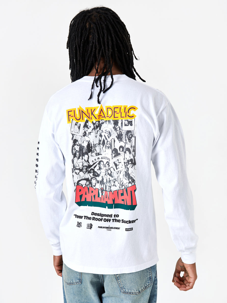 Real Bad Man Real Bad Man Uncle Jam Tribute Longsleeve T-Shirt - White - White