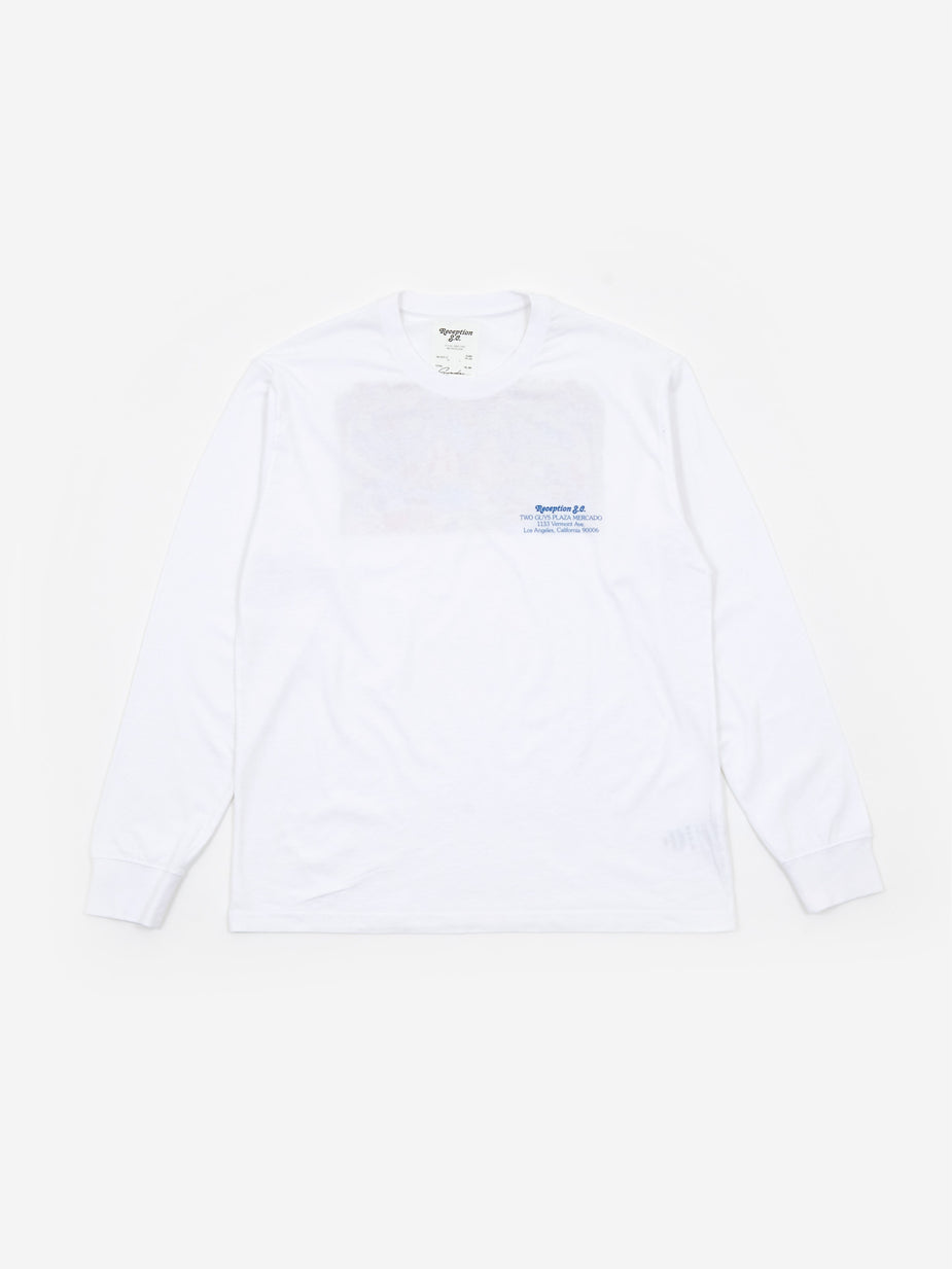 Reception Reception Two Guys Longsleeve T-Shirt - White - White